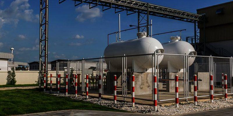 Steel Industrial gas tank (pressure vessel) for storage of LPG